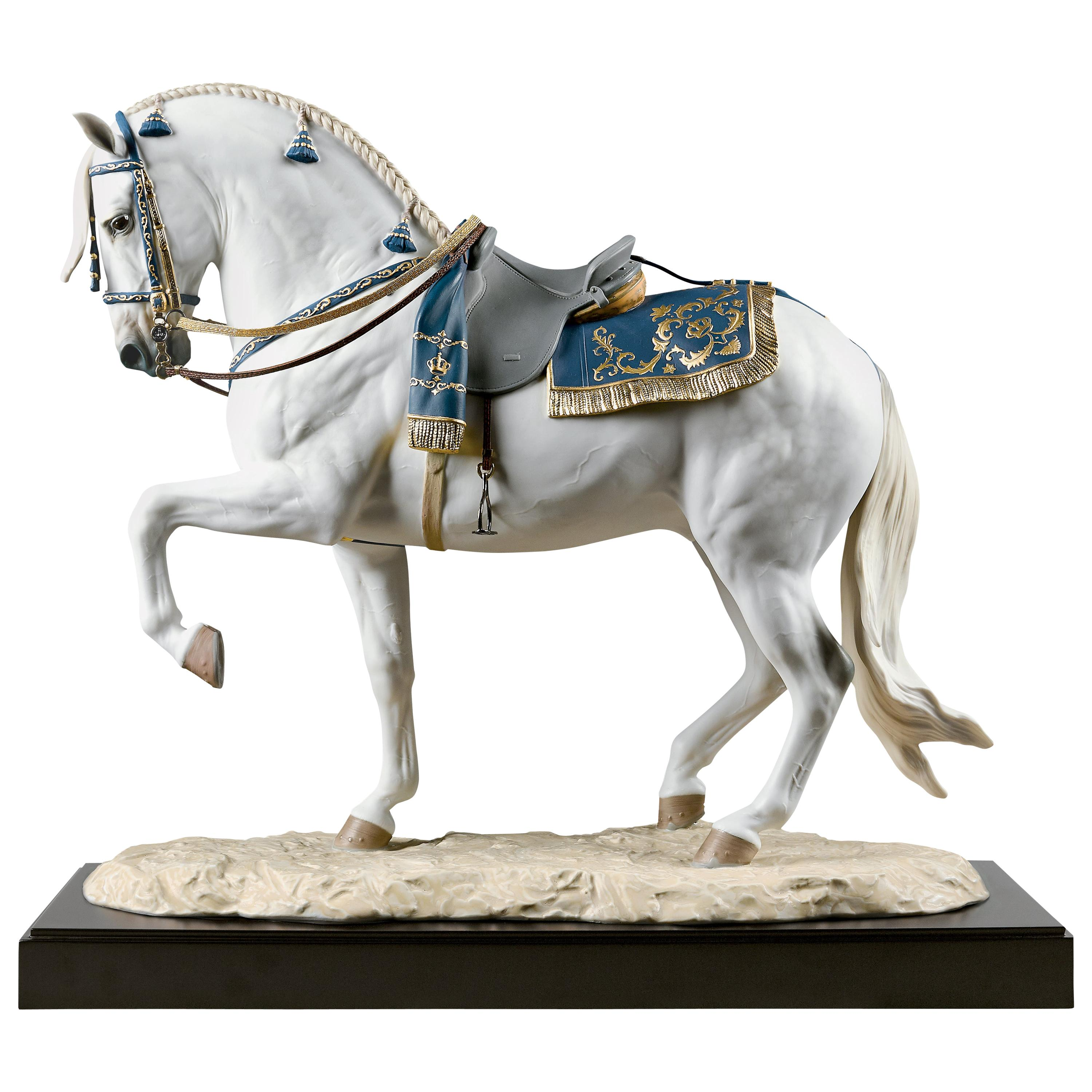 Spanish Pure Breed Horse Sculpture by Ernest Massuet. Limited Edition.