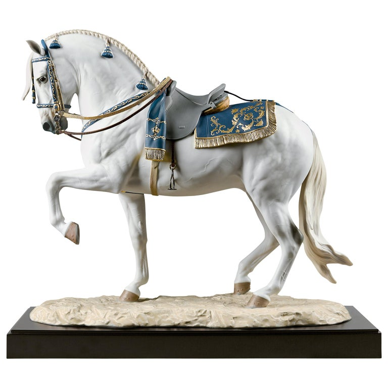 Lladro Spanish Pure Breed Horse Sculpture by Ernest Massuet For Sale
