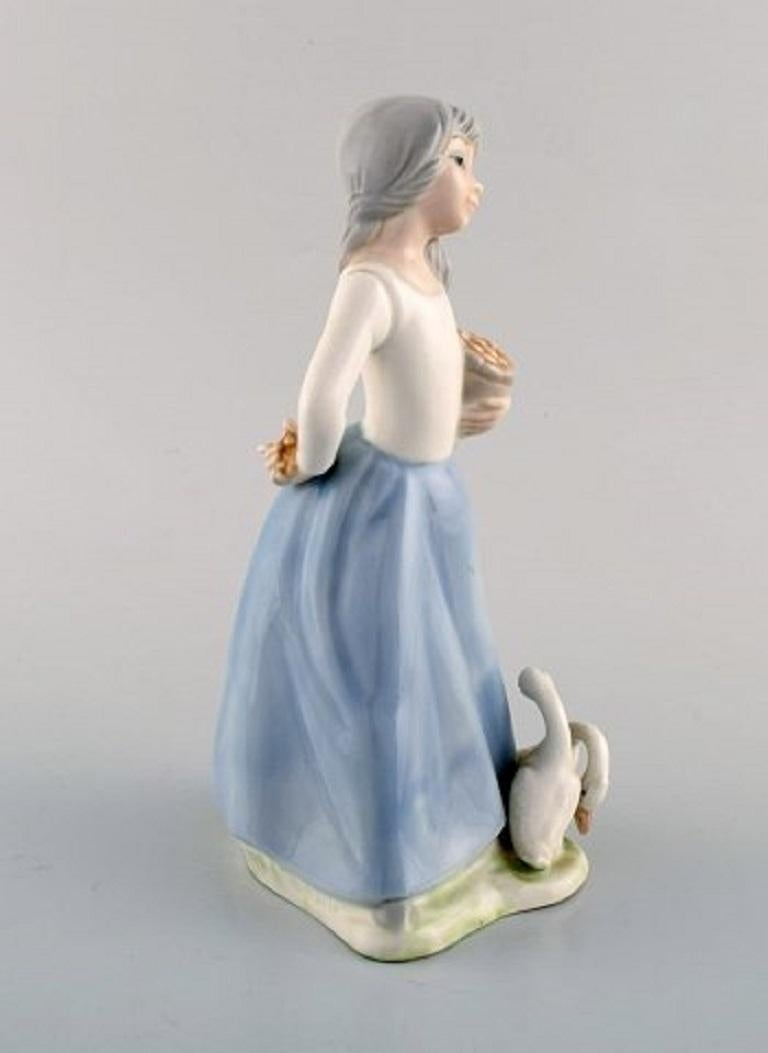 Late 20th Century Lladro, Tengra and Zaphir, Spain, Four Porcelain Figurines of Children For Sale
