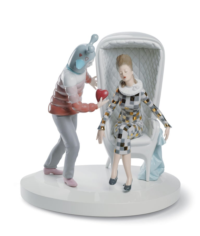 Modern Lladro the Love Explosion Couple Figurine by Jaime Hayon For Sale