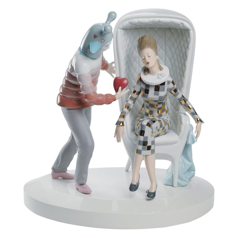 Lladro the Love Explosion Couple Figurine by Jaime Hayon For Sale