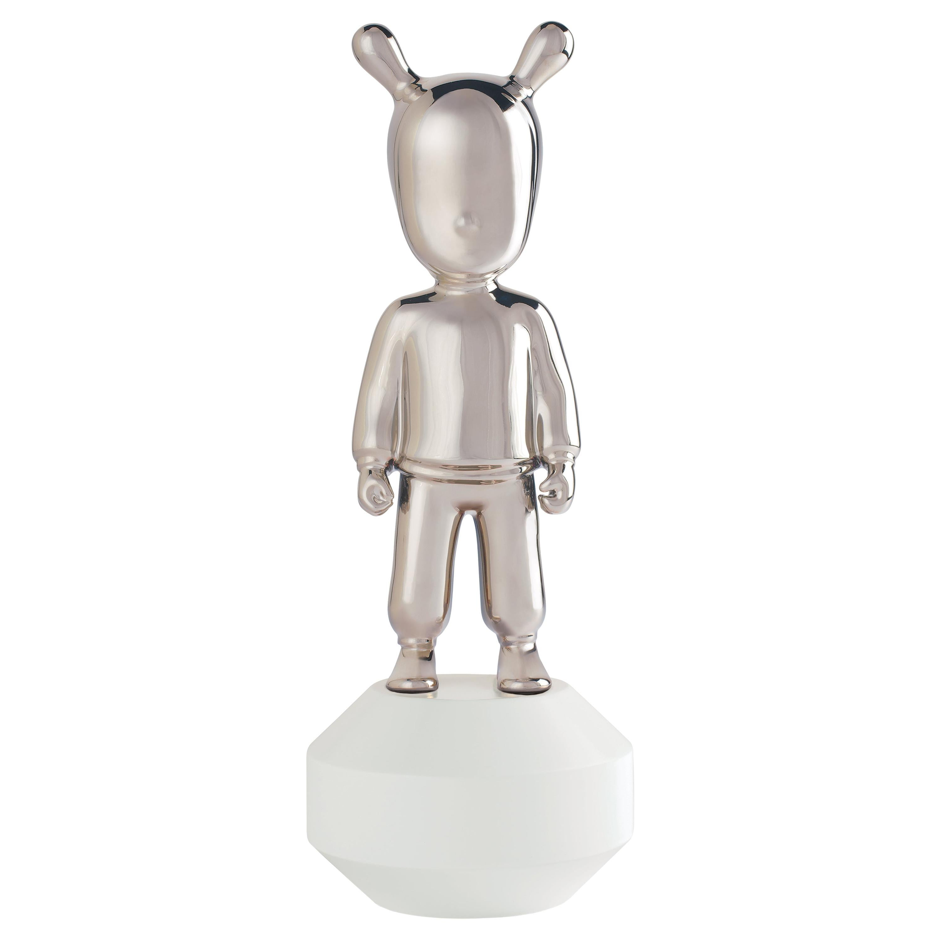 Lladro the Silver Guest Little Figurine in Silver by Jaime Hayon