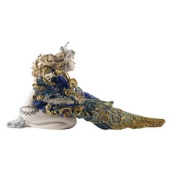 Lladro Winged Beauty Woman Sculpture by Francisco Polope. Limited Edition.