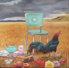 Summer Chair by Llael McDonald. Oil on Linen. Ready to hang.