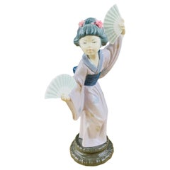 Llardo Madame Butterfly Japanese Geisha Figurine, Signed and Dated