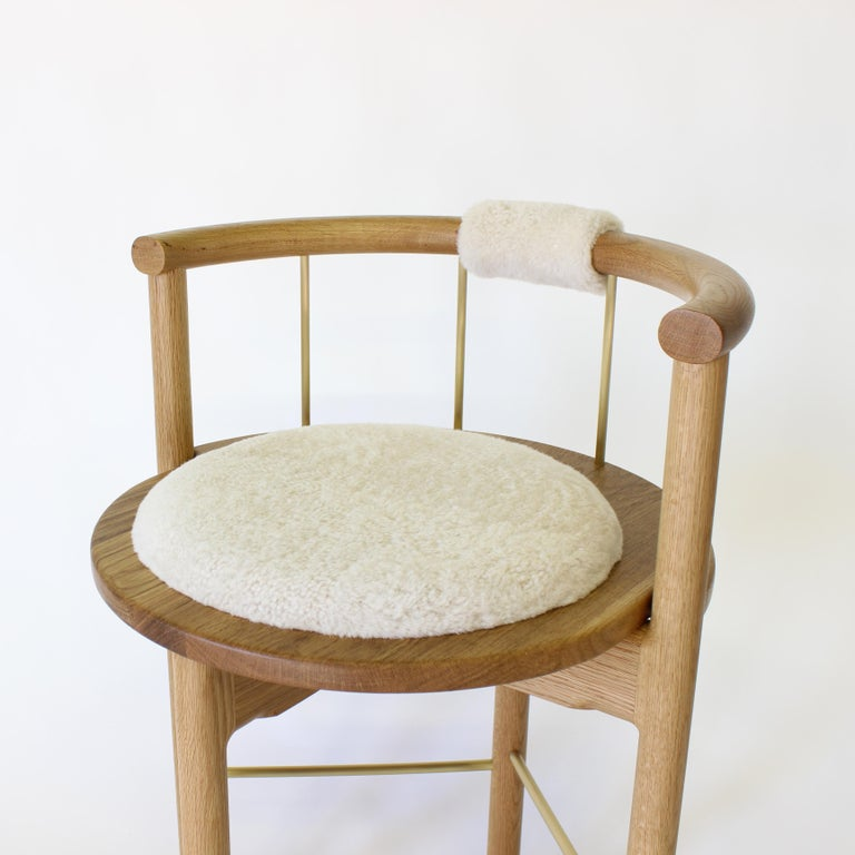 """Solid wood construction / hand rubbed oil finished / solid bronze rungs / leather wrapped back support / leather wrapped seat cushion    Dimensions :  23"""" W x 21""""D x 33""""H (24"""" seat height) 23"""" W x 21""""D x 33""""H (30"""" seat height)  Metal rung"""