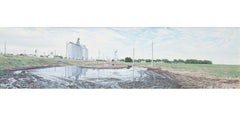 Large Puddle, Offerle, Kansas, US Highway 50
