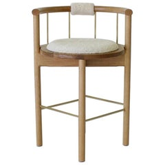 Lloyd Contemporary Bar Stool in Wood by Crump & Kwash