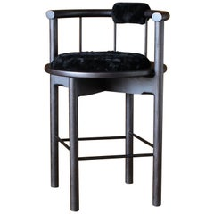 Lloyd Counter Stool with Leather or Shearling Cushion