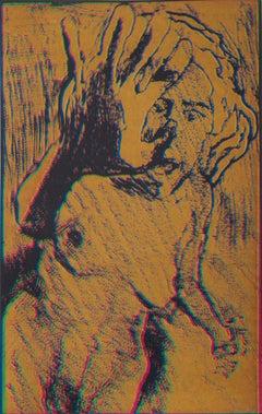 Psychedelic Nude, Silkscreen by Lloyd Fertig