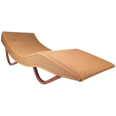 Lloyd Loom Italia Wicker Chaise Longue