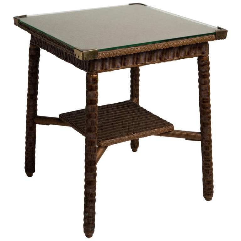 Lloyd Loom Table, England, circa 1920 For Sale