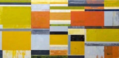 Lloyd Martin, Yellow Stack, Oil on Canvas, 2016