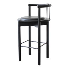 Lloyd Modern Barrel Back Round Bar Stool