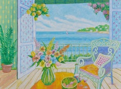 Balcony View, Oil Painting by Lloyd van Pitterson