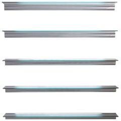 Lluís Cloet, Oscar Tusquets Shelve 'Hialina' Aluminium / Glass by BD Barcelona