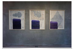 BCN Triptych, Oil, Chinese Ink and Graphite on Nepalese Mitsumata Paper, 2018