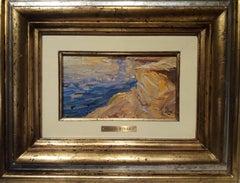 Mediterranean coast- original landscape acrylic painting