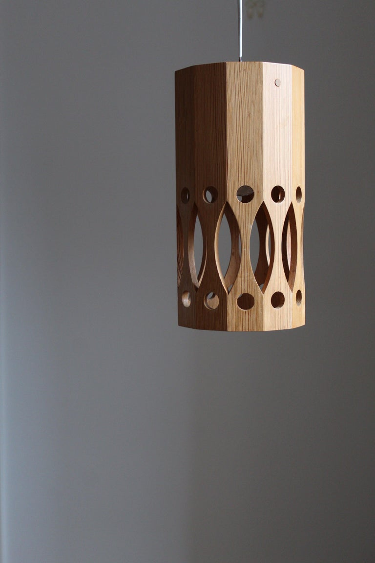 A unique ceiling lamp / pendant light. Produced and signed LO Nilsson.