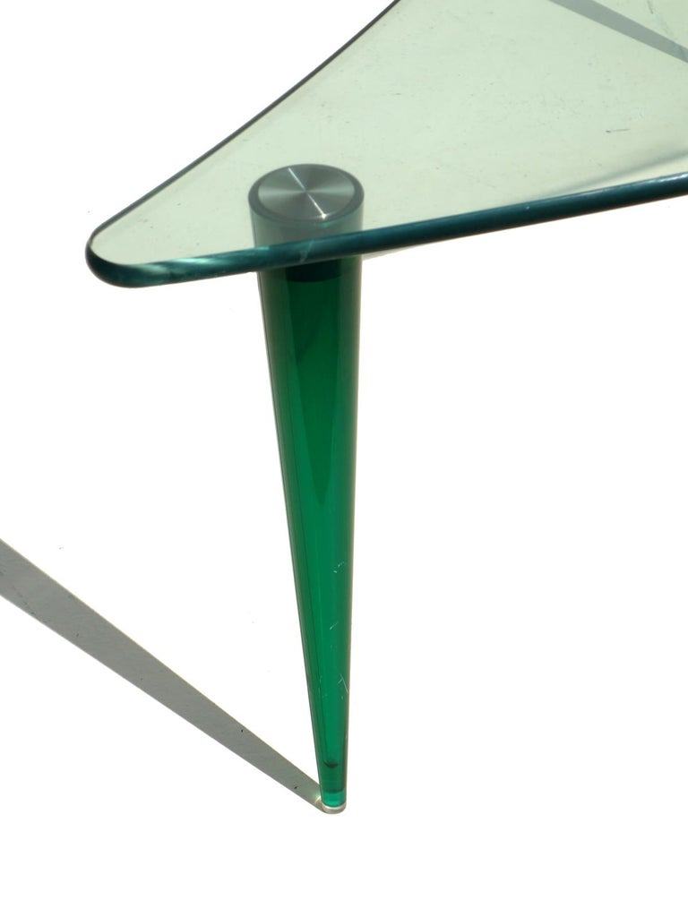 Green polycarbonate and crystal top.
