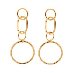 Lobby 24kt gold plated brass pendant earrings