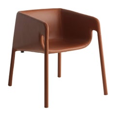 Lobby Brown Leather Chair by StokkeAustad