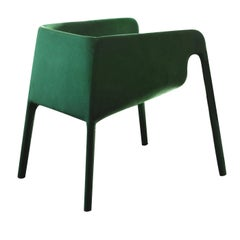 Lobby Green Velvet Chair by StokkeAustad