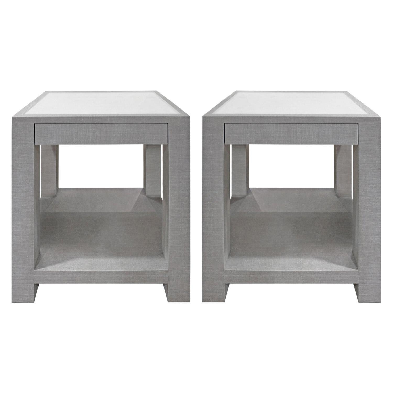 Lobel Originals Pair of Bedside Tables Model 1020 Made to Order