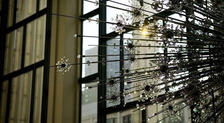 Austrian Lobmeyr Metropolitan Opera Crystal Chandelier Foyer D11, Mid-Century Modern For Sale