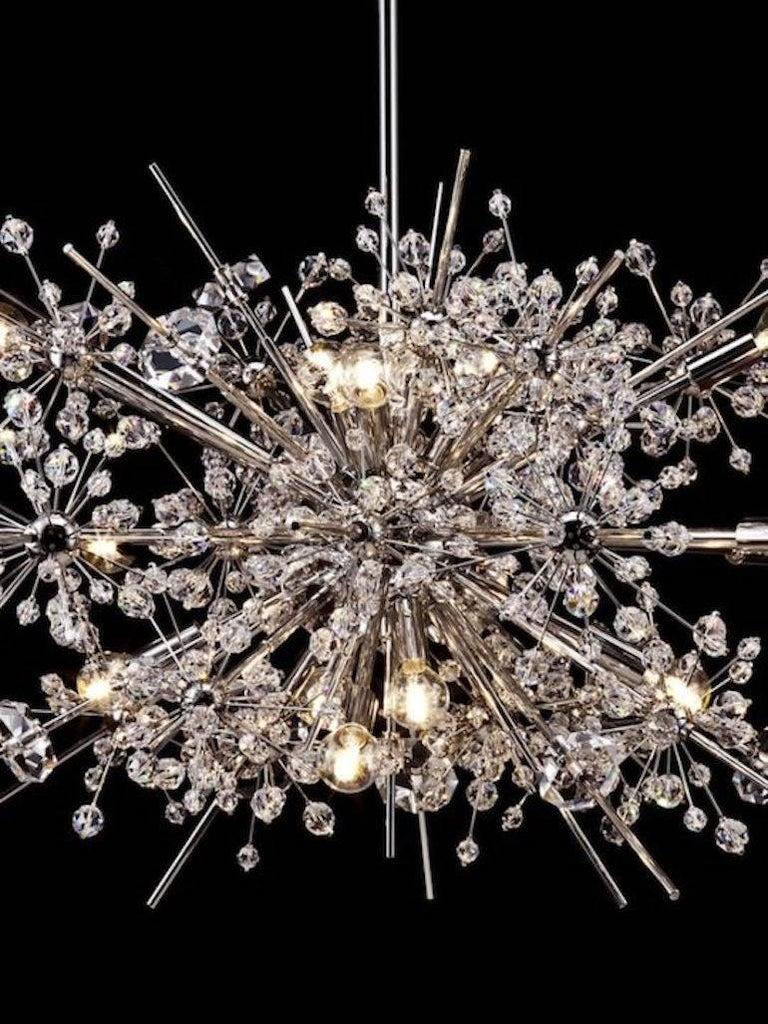 Hand-Carved Lobmeyr Metropolitan Opera Crystal Chandelier Foyer L26, Mid-Century Modern For Sale