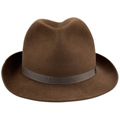 LOCK & CO HATTERS Brown Felt Size 7 Fedora
