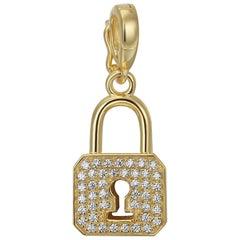 Lock Pave Pendant/Charm