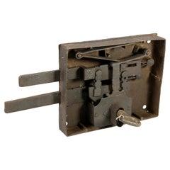 Lock with Key, Iron, 19th Century