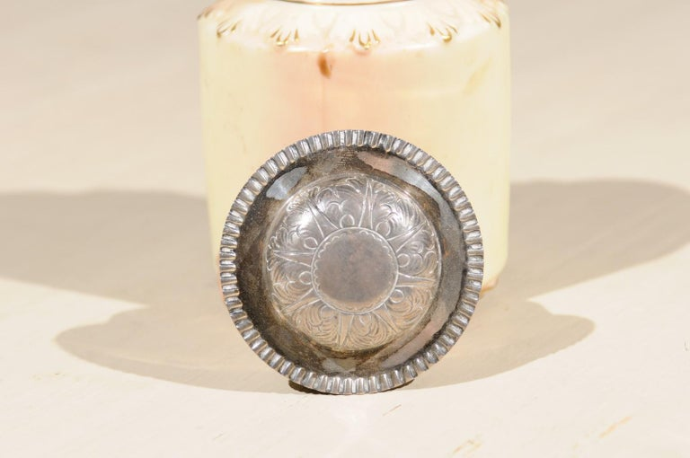 Locke & Co Worcester Porcelain Toiletry Jar with Silver Top, Turn of the Century For Sale 2
