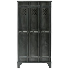 "Locker ""Strafor"" 3 Corrugated Doors, France, circa 1930"
