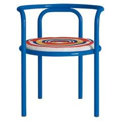Locus Solus Blue Chair by Gae Aulenti