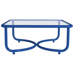 Locus Solus Blue Low Table by Gae Aulenti