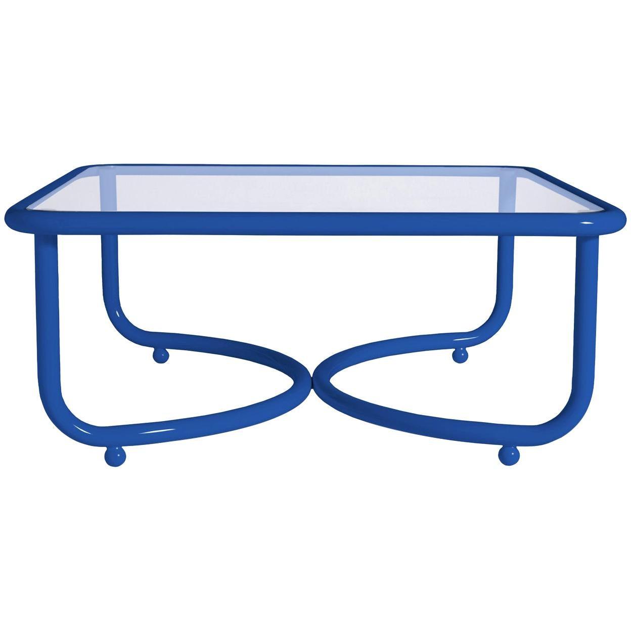 Locus Solus Blue Low Table by Gae Aulenti
