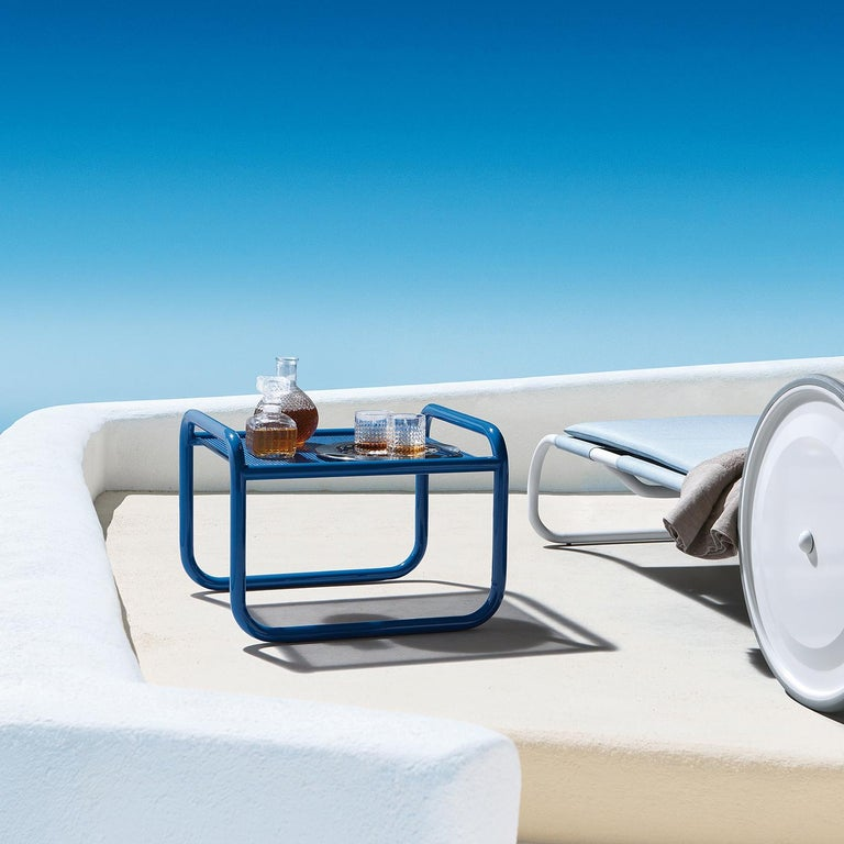 Aimed at bringing the same attention to detail usually reserved for interior decor, Gae Aulenti's Locus Solus collection will transform a patio, garden, or veranda into a totally original and colorful place of sparkling personality. The cobalt blue