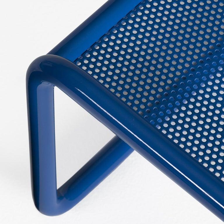 Italian Locus Solus Blue Pouf by Gae Aulenti For Sale