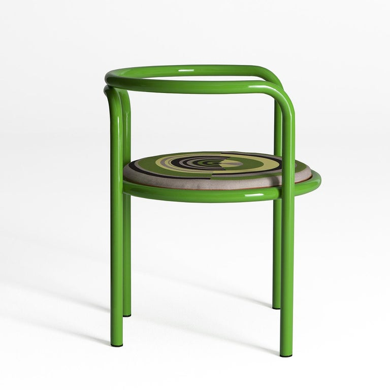 Hand-Crafted Locus Solus Green Chair by Gae Aulenti For Sale