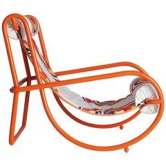 Locus Solus Orange Armchair by Gae Aulenti