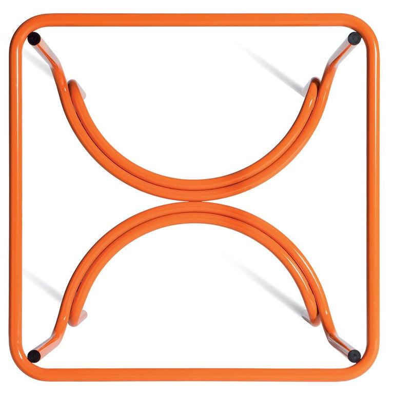 Italian Locus Solus Orange Dining Table by Gae Aulenti For Sale
