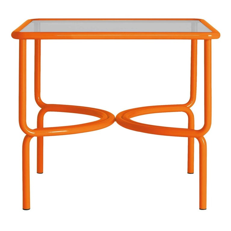 Hand-Crafted Locus Solus Orange Dining Table by Gae Aulenti For Sale