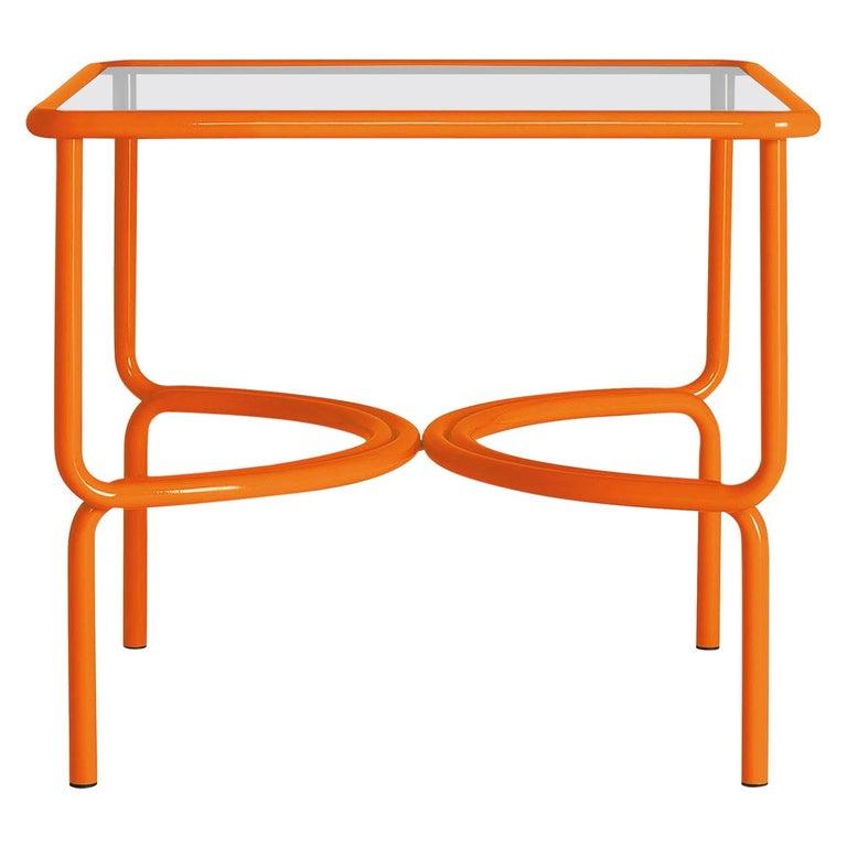 Locus Solus Orange Dining Table by Gae Aulenti For Sale