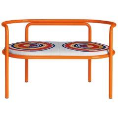 Locus Solus Orange Loveseat by Gae Aulenti