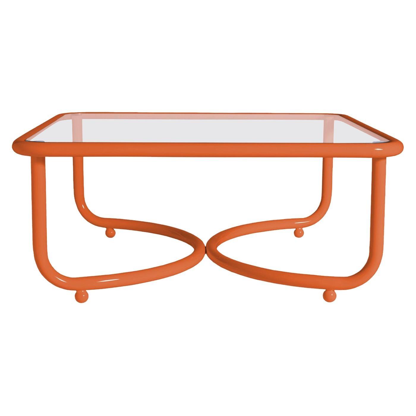 Locus Solus Orange Low Table by Gae Aulenti