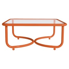 Locus Solus Orange Low Table by Gae Aulenti