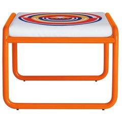 Locus Solus Orange Pouf by Gae Aulenti