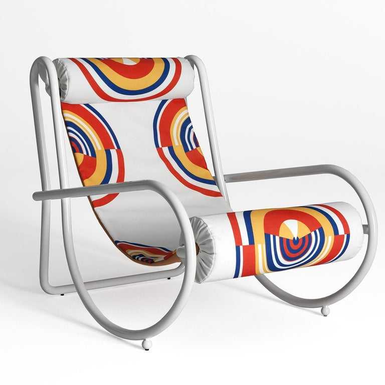 Hand-Crafted Locus Solus White Armchair by Gae Aulenti For Sale